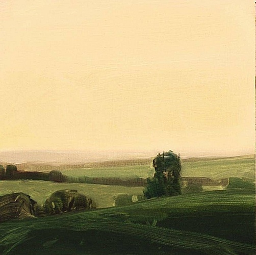 Sara MacCulloch, Dusk, England  2009, Oil on panel