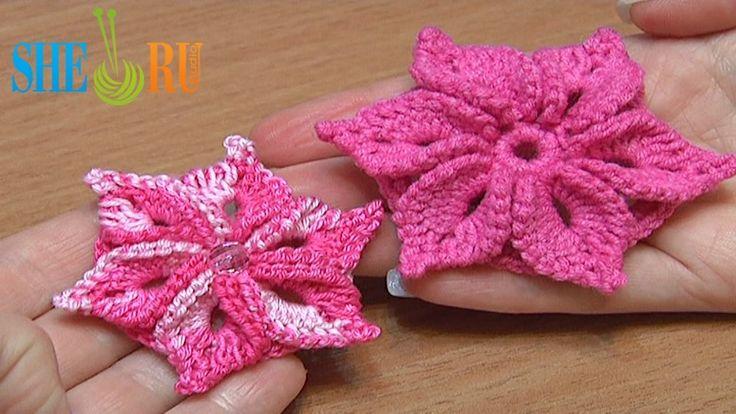 crochet flower,video tutorial - lovin' how she shows her beginning chain stitch, so easy!