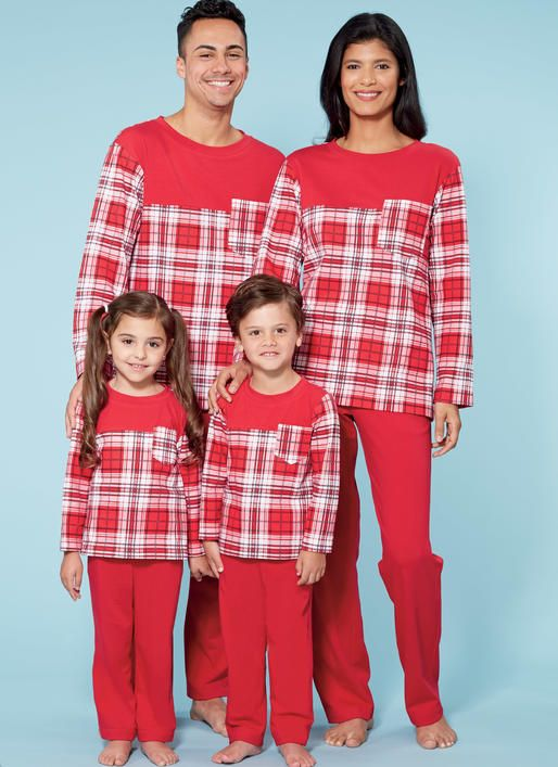 1f00c8f91 Learn to Sew for Fun family sleepwear sewing pattern from McCall s ...