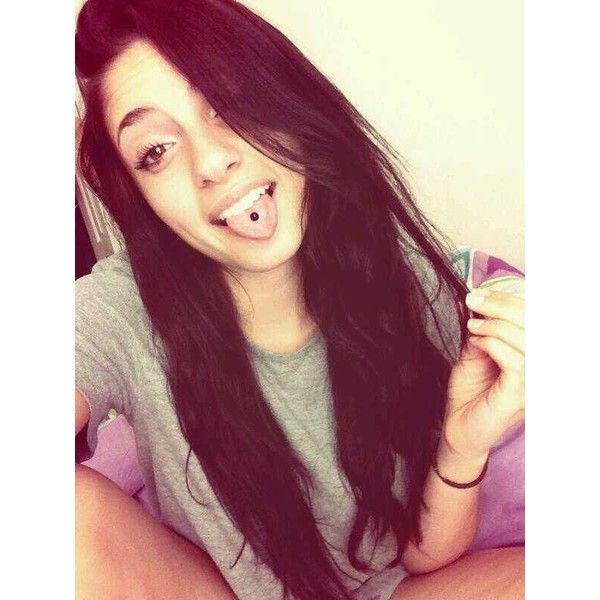 Twitter / KaliKopp: #tbt to when I had my tongue ... ❤ liked on Polyvore featuring piercing and tongue