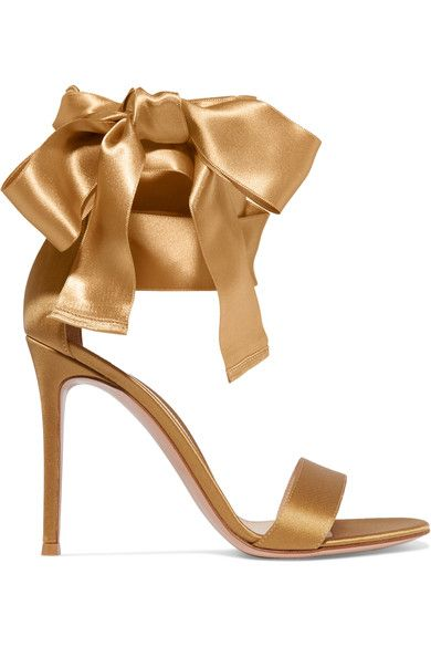 Gianvito Rossi - Satin Sandals - Gold - IT35