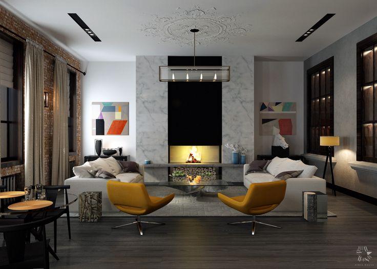 Квартира в клубном доме в Петербурге. Дизайн интерьера в современном стиле от архитектурного бюро Atria Magna