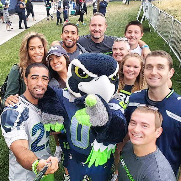 Armstrong Fitness staff members at the Seahawks Training Camp! Go Hawks! #ArmstrongFitness #12sForLife #WeAreArmstrong
