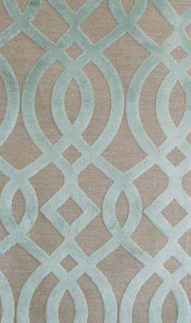 Du Barry Velvet Duck egg cut velvet ogee design woven on natural cloth