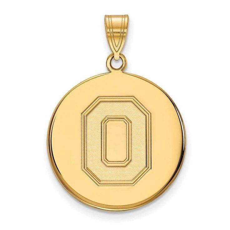 Mejores 15 imgenes de go bucks ohio state jewelry en pinterest 14ky logoart ohio state university large disc pendant aloadofball Gallery