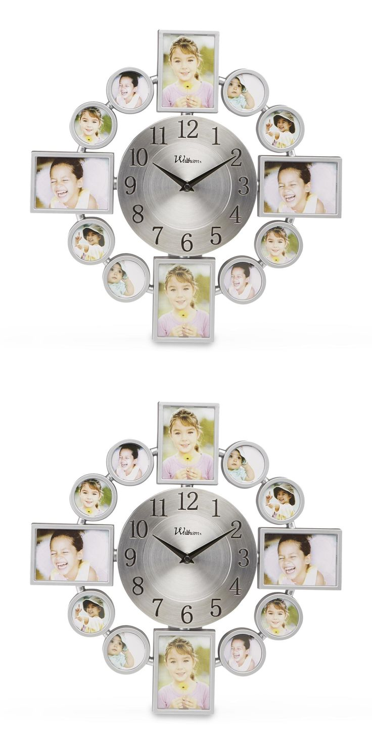 Home Decor: Modern Photo Collage Wall Clock W 12 Picture Frame Indoor Bedroom Home Decor -> BUY IT NOW ONLY: $30.2 on eBay!