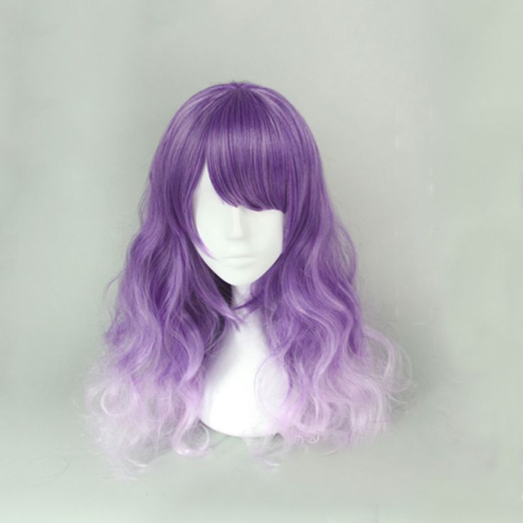 $ 26.0000 Rulercosplay Long Purple With Pink Harajuku Lolita  Wigs Wholesaler Resaler