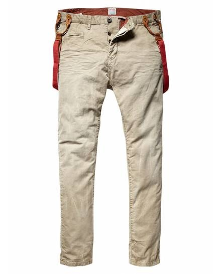 Morrison - Chino with suspenders - Pants - Official Scotch & Soda Online Fashion & Apparel Shops