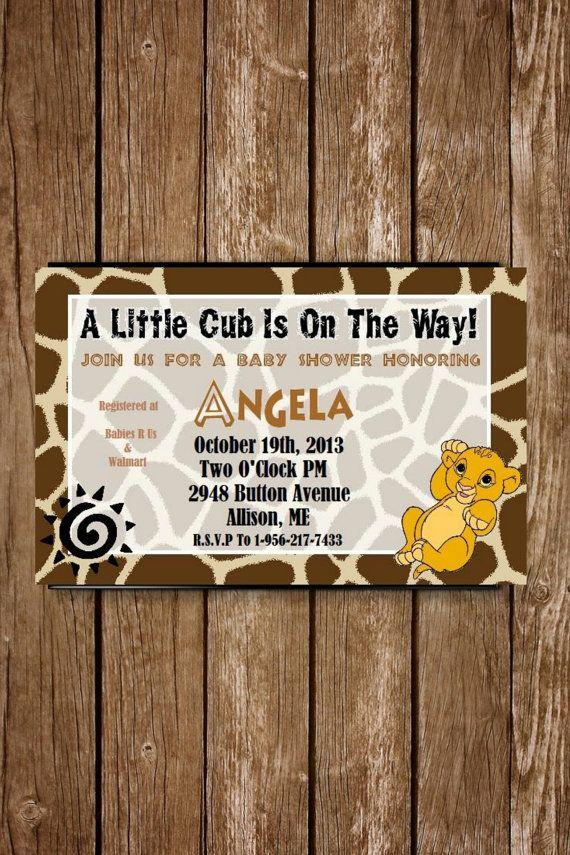 Baby Simba Baby Shower Invitation by DreamDezigns on Etsy
