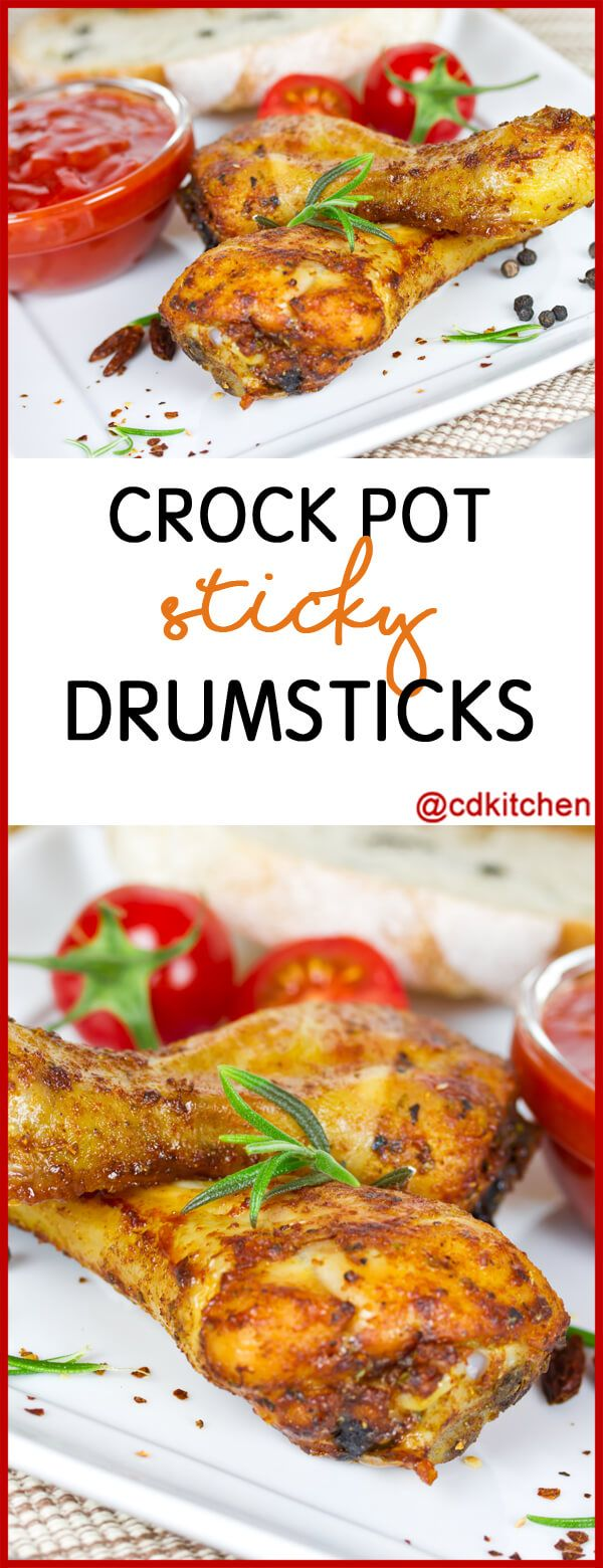 Serve these tasty slow cooked chicken drumsticks with lots of extra napkins! | CDKitchen.com
