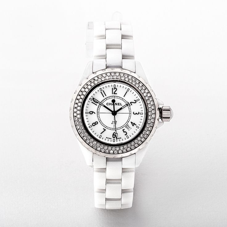 Ladies Chanel White Ceramic & Diamond Watch - Model H0967