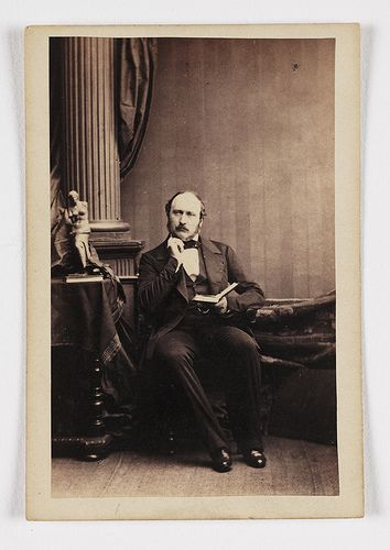 Albert Prince Consort, c.1859. - A carte-de-visite of Prince Albert (1819-1861), taken by an unknown photographer in about 1858. This rather informal portrait of Queen Victoria's husband shows him as thoughtful and scholarly. Albert was the first cousin of Queen Victoria, they married when he was 20 and went on to have 9 children.