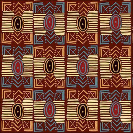 Tribal Pattern Safari Vector Illustration 1 Tan & Brown Canvas Art by Pied Piper Creative, Beige