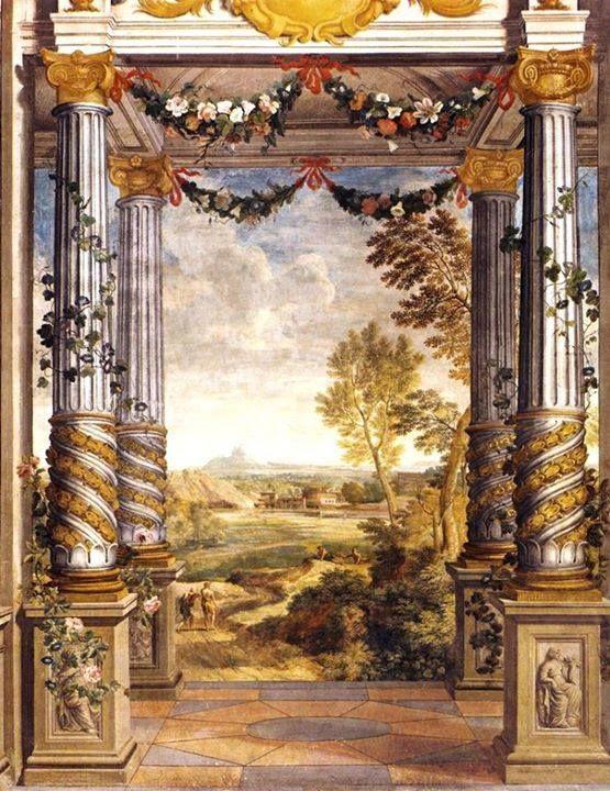 Affresco trompe l 39 oeil fresco at palazzo colonna roma for L architecture baroque