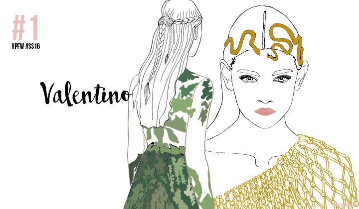 PARIS FASHION WEEK SS16: MY SKETCHY TOP 3 #Valentino #fashionillustration #ChiaraRigoni