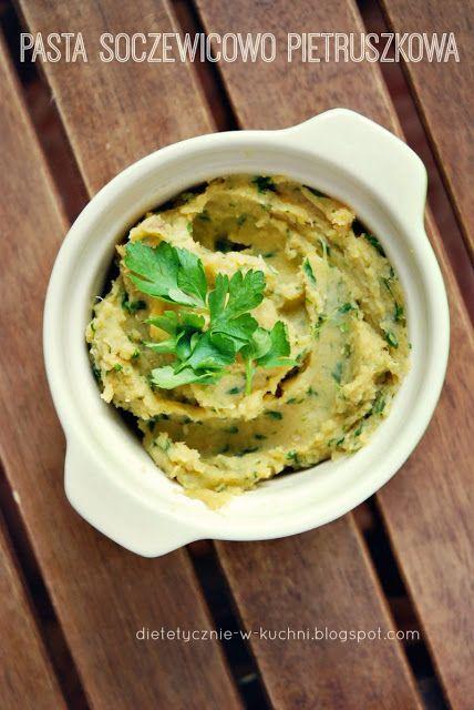 Wegańska pasta soczewicowo - pietruszkowa