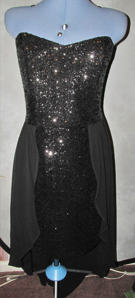 New Look Ladies size 18 Little Black Dress New with Tags   Bandeau Neckline
