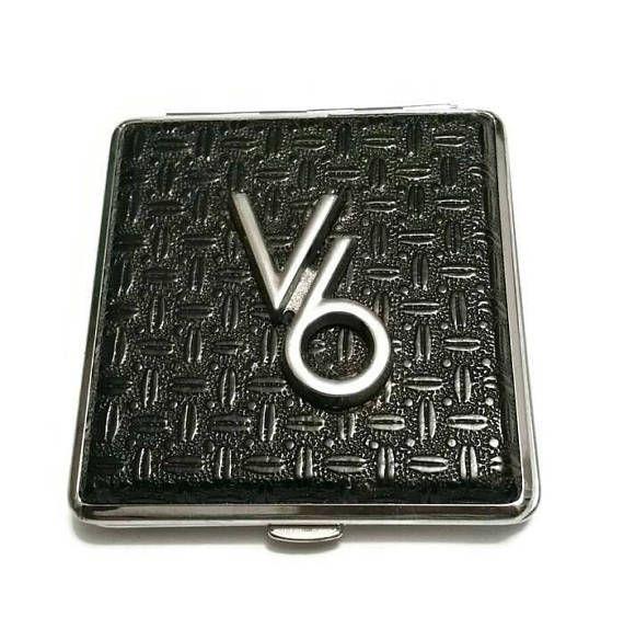 V6 Engine CIGARETTE CASE Wallet Business Card Case Black