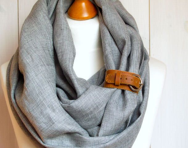 LINEN Infinity Scarf tube scarf with cuff, natural linen scarf, gift ideas, FASHION infinity SCARF by Zojanka on Etsy https://www.etsy.com/listing/152907314/linen-infinity-scarf-tube-scarf-with