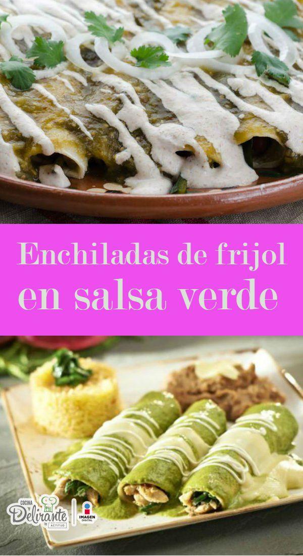 enchiladas de frijol | CocinaDelirante