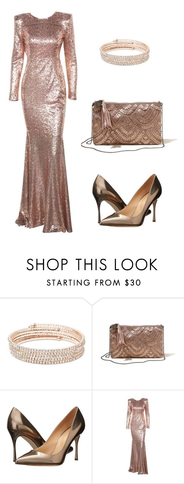 """""""Beauty of Gold"""" by elf-islm on Polyvore featuring Anne Klein, Hollister Co. and Sergio Rossi"""