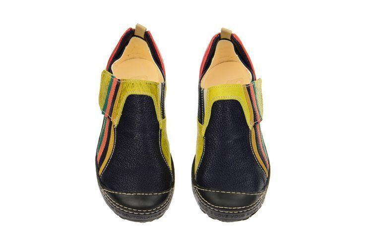 Eject Dass 2 Slipper blau gelb multi 16903 – Schuhhaus Strauch Onlineshop – #169…