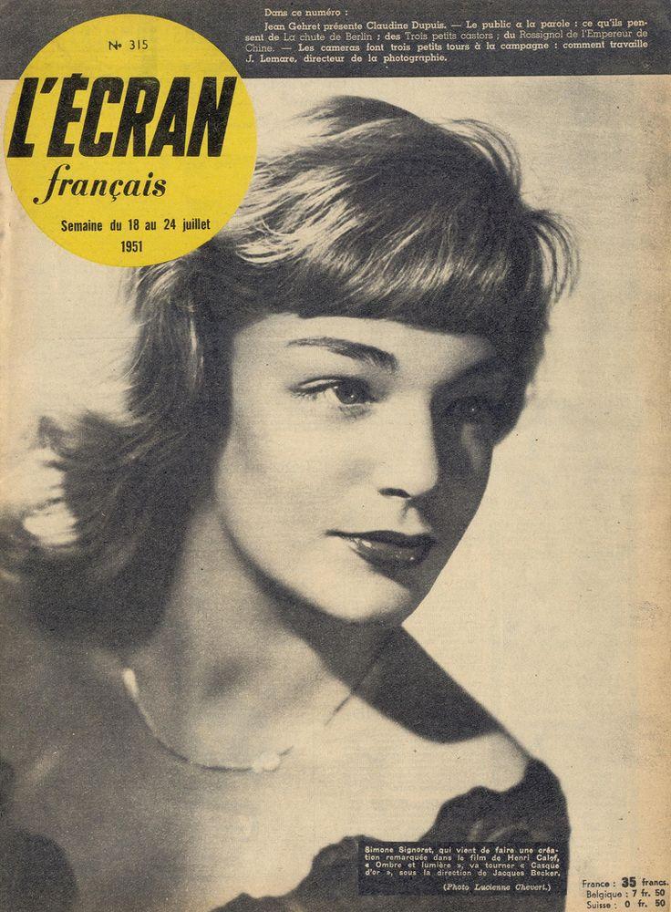L'Ecran Francais, July 1951 (Simone Signoret)