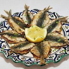 Sardines frites à la charmoula
