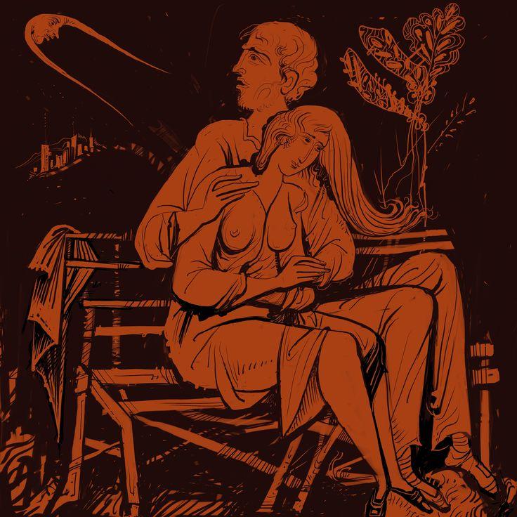 nocturne. Digital engraving. 2015