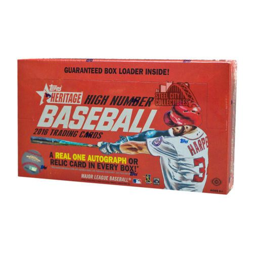 2016 TOPPS HERITAGE HIGH NUMBER BASEBALL HOBBY BOX FREE SHIPPING
