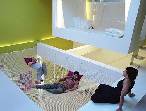 A net floor- it's like a gigantic hammock inside!! ahh soo cool