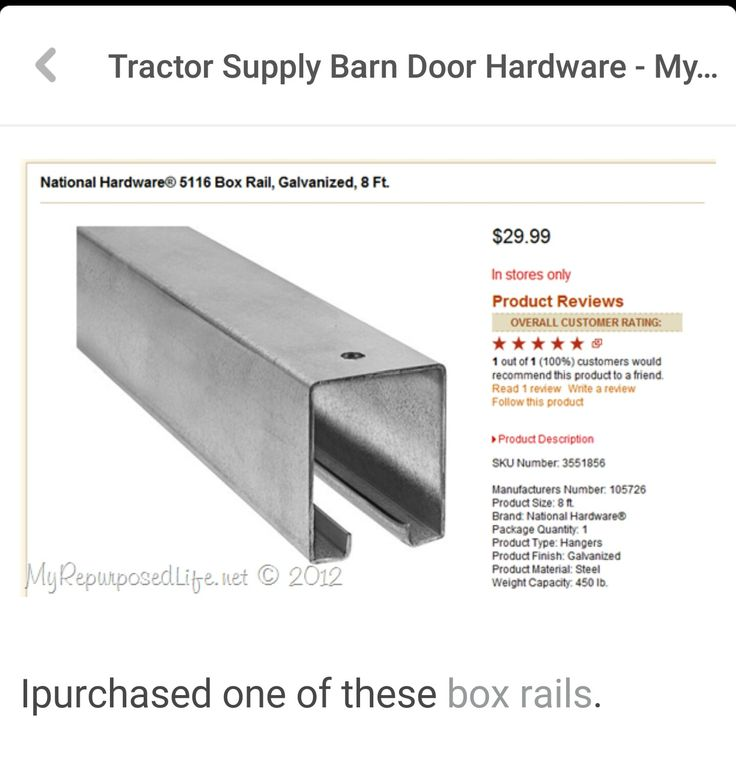 267 best home ideas images on pinterest patio ideas - Exterior barn door hardware tractor supply ...