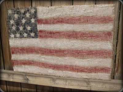 old american flag tutorial and Printable