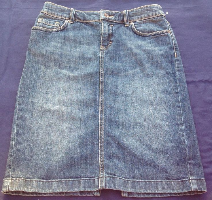 ESPRIT LADIES DENIM SKIRT SIZE UK 8 ZIP FLY GOOD PRE-OWNED CONDITION