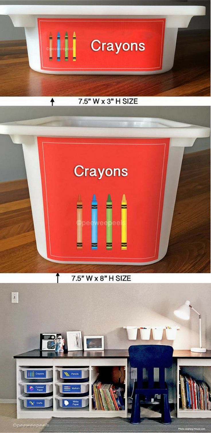 Toys for kids 8 and up  Removable labels for trofast toy and crayon storage Makes it so easy
