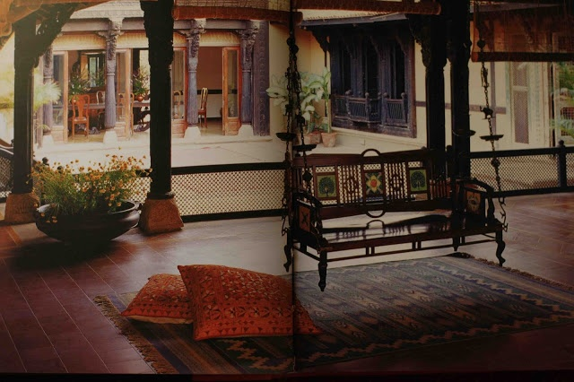 Love the courtyard and jhoola celebrations decor an for Courtyard house designs india