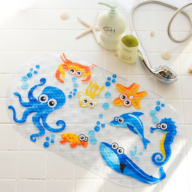 Cute Cartoon Animal Bath Mat Sea Fish Duck Baby Kids Pvc Non Slip Mat Skid Proof Anti Bacterial Mildew Mold Bathtub Mats 38x69cm Review With Images Colorful Bath Bath Mat Shower