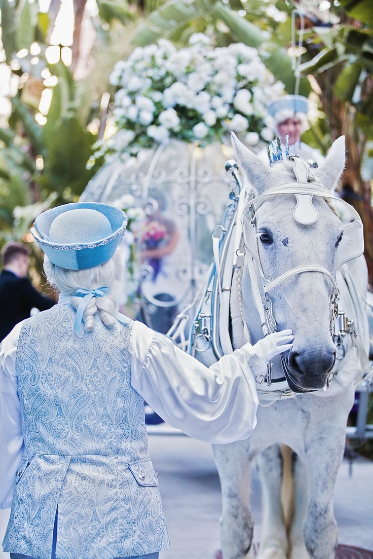 Cinderella's Coach and attendants at Disneyland Resort #Disney #wedding #Disneyland #carriage
