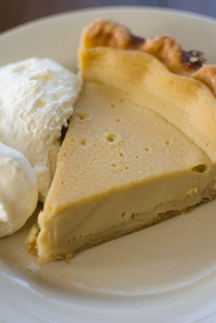 Grandma's Egg Custard Pie Dessert #Recipe