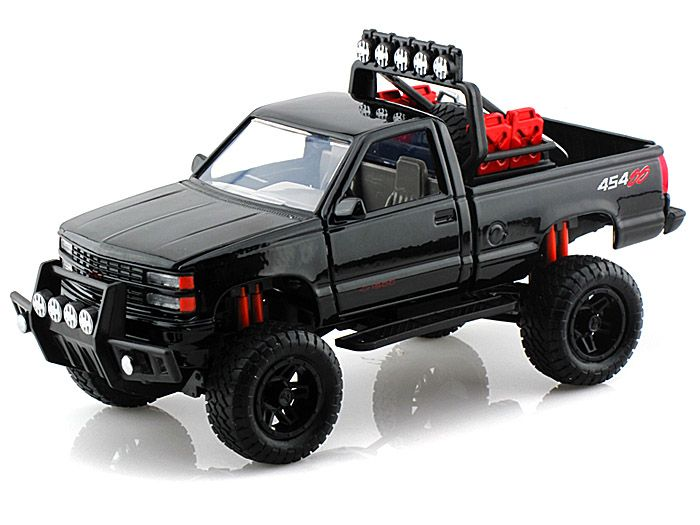 1992 chevy 454 ss pickup off road 1 24 black diecast model cars pinterest model car. Black Bedroom Furniture Sets. Home Design Ideas