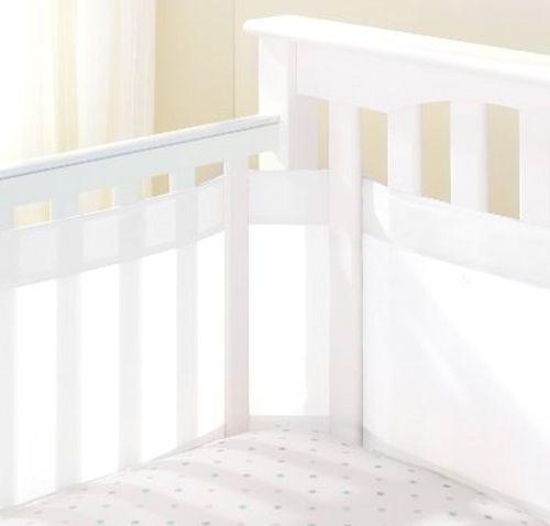 Mesh Crib Bumper Breathable Liner 14 Inch Baby White #AirFlowBaby
