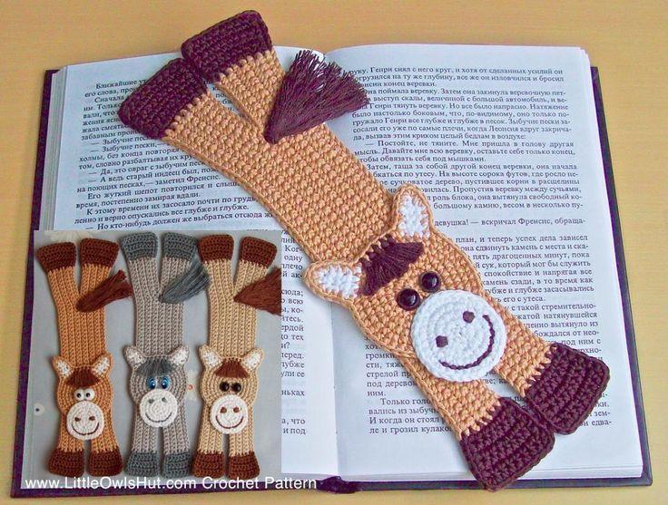 Horse bookmark amigurumi Zabelina Crochet Pattern