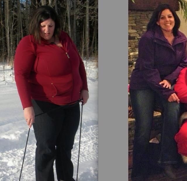 Photo #1: January 2012.... Photo #2: November 2012 (down 108 lbs). Still going strong with Isagenix... She looks stunning!!!
