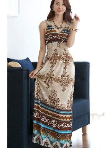 Elegant Wrapped Neck Summer Maxi Dress | buy sexy Club Dresses , Club wear online in india | StringsAndMe