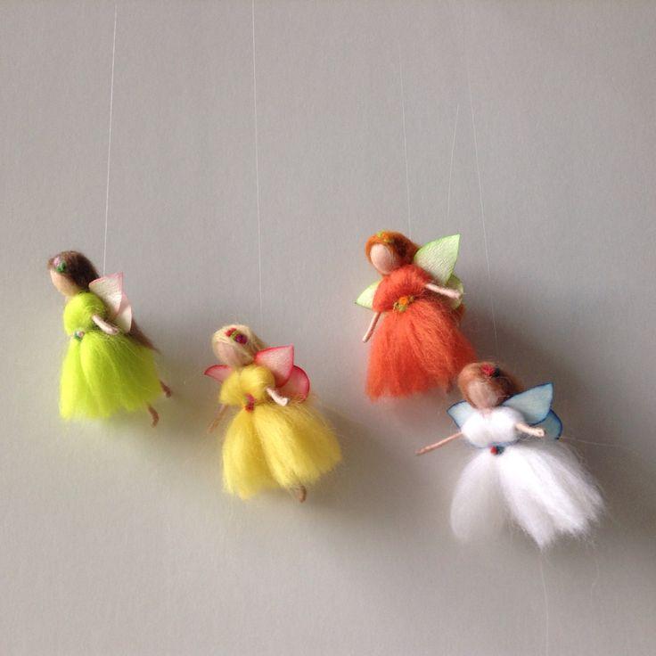 Season fairy needle felted