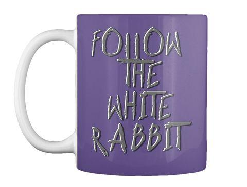 Follow The White Rabbit, Alice Tee Purple Mug Front