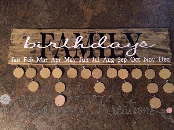 Wood Family Sign Family Birthday Sign Custom von KatrinaKreates