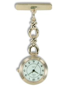 Gold nurses watch. Engraved with KYLIE