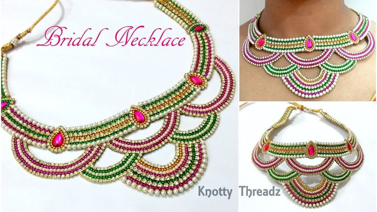 Bridal Jewelry | Making of Heavy Bridal Necklace Using Cut Work Techniqu...