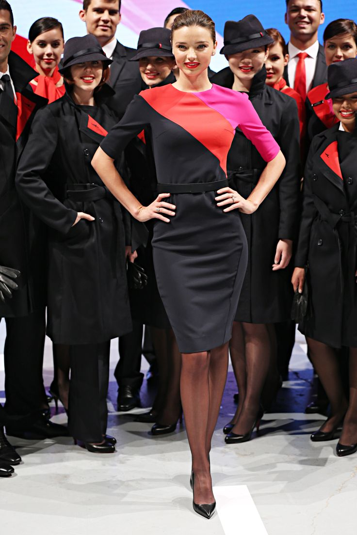 NEW Qantas uniforms by Martin Grant - I get to wear this on December 12. It was all tailored today so happy!